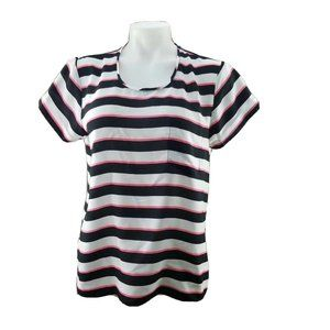 Victoria's Secret T shirt Pocket White Black Pink